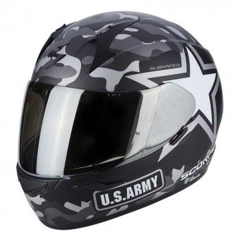 Scorpion Integraalhelm EXO-390 Army Matt Black/Silver