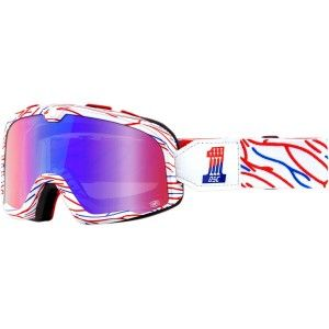 100% Crossbril Barstow Death Spray Customs Mirror Red/Blue