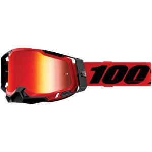 100% Crossbril Racecraft 2 Red Mirror Red