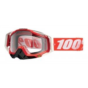 100% Crossbril Racecraft Fire Red/Clear