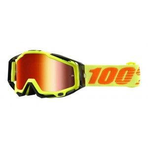 100% Crossbril Racecraft Attack Yellow/Mirror Red