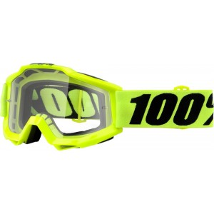100% Crossbril Accuri OTG Fluo Yellow/Clear (voor brildragers)