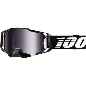 100% Armega Crossbril Black-Silver Mirror