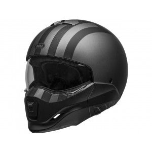 Bell Broozer Streetfigther Jethelm Free Ride Matte Gray/Black