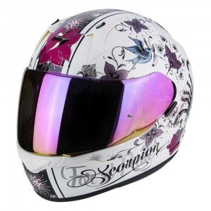 Scorpion Integraalhelm EXO-390 Chica Pearl White/Pink