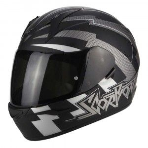 Scorpion Integraalhelm EXO-390 Patriot Matt Black/Silver