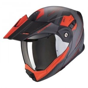 Scorpion ADX-1 Enduro Systeemhelm Tucson Grey/Red