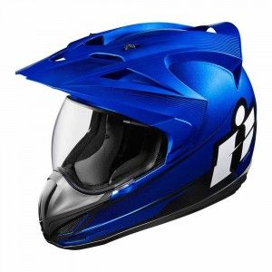 Icon Integraalhelm/Endurohelm Variant Double Stack Blue
